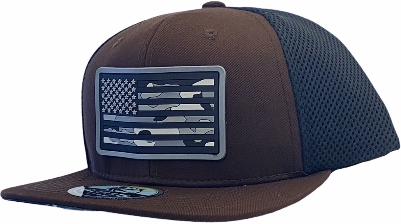 USA FLAG SNAPBACK HAT RUBBER FLAG