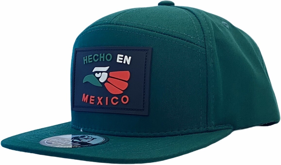 HECHO EN MEXICO EAGLE RUBBER  PATCH SNAPBACK HAT