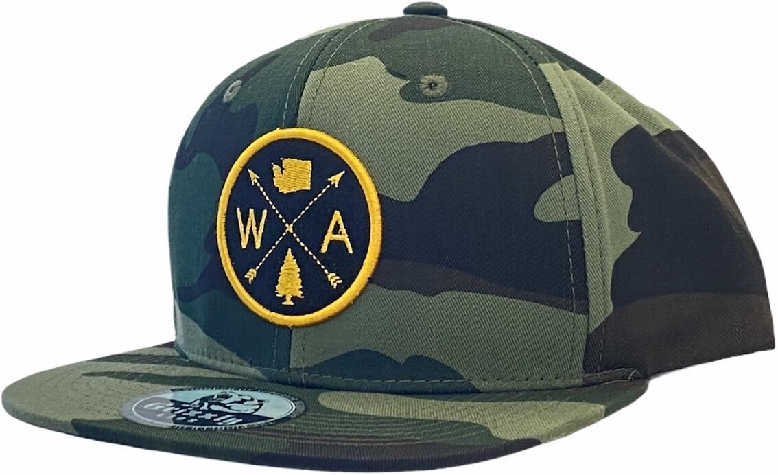WA ARROW WASHINGTON SNAPBACK HAT
