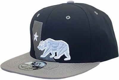 3D CALIFORNIA MAP BEAR SNAPBACK HAT