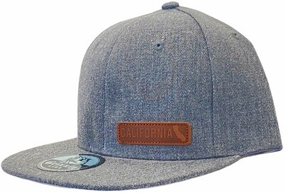 CALIFORNIA LEATHER STRIP SNAPBACK HAT