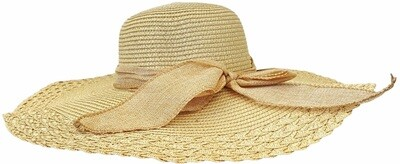 LADIES PREMIUM SUMMER SUN BEACH STRAW HATS WIDE BRIM  FOLDABLE FLOPPY HAT