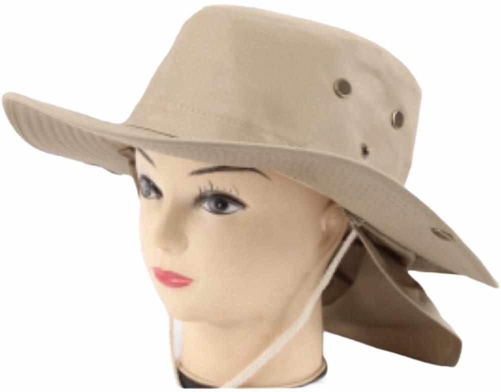 Unisex Sun Hat with Neck Flap Cover Fishing Safari Cap Neck Protection, UPF 50+
