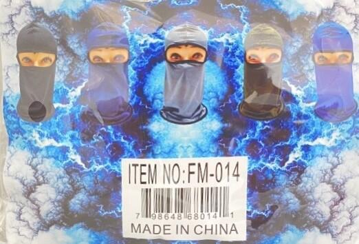 (12 CT) FM-014 STRETCHABLE BALACLAVA