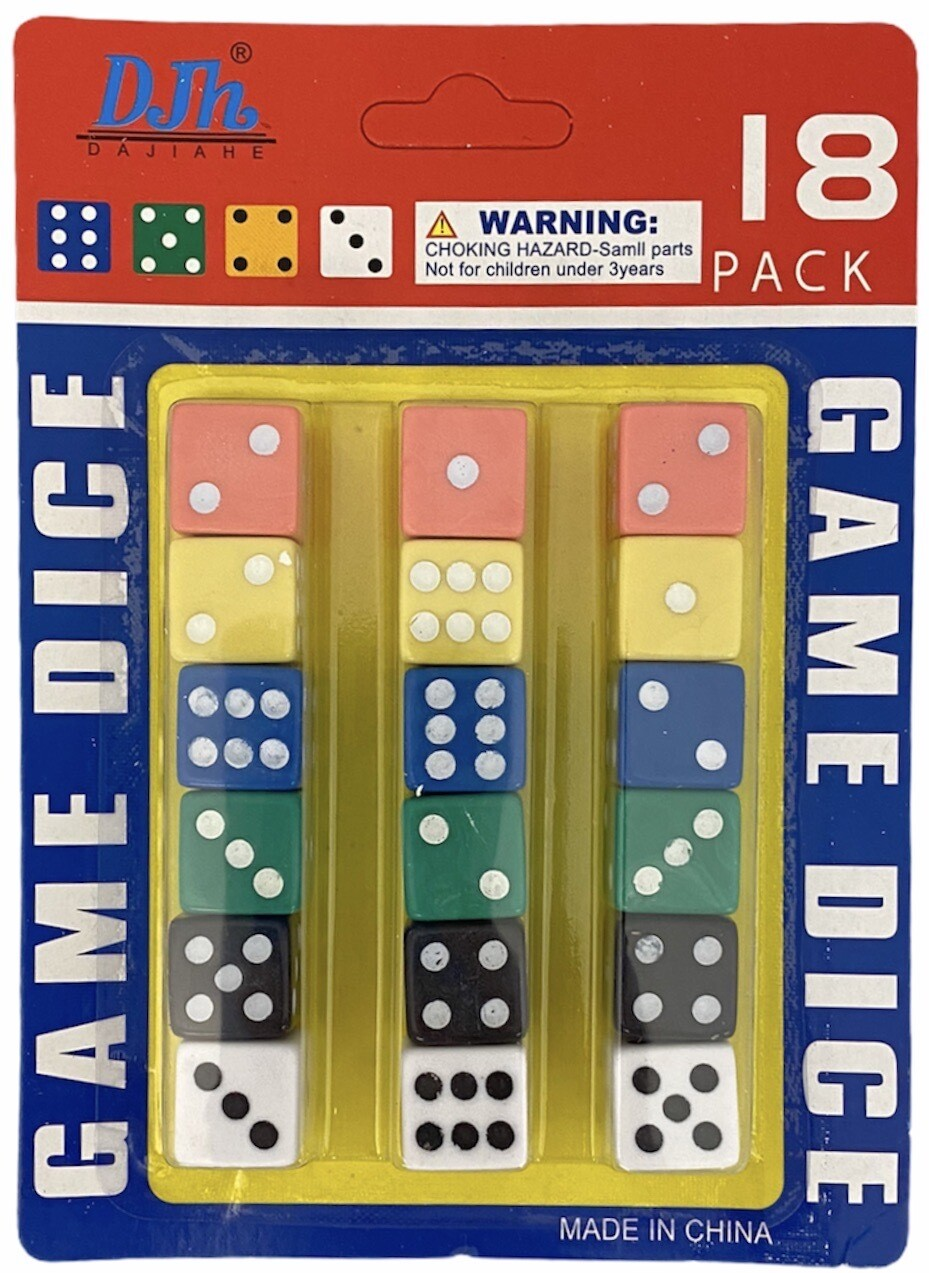 YW-34 18PC CARD LOADED DICE (12CT)