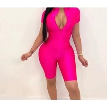 Biker body Hot Pink