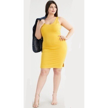 Yellow Body Fitted Dress