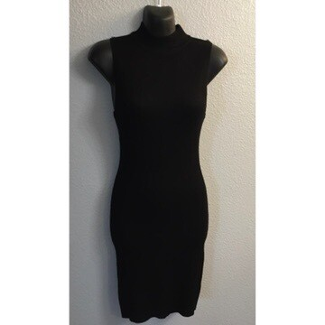 Black Knitted Sleeveless Dress