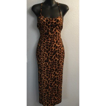 Fit Me All Over Leopard Semi Maxi Dress
