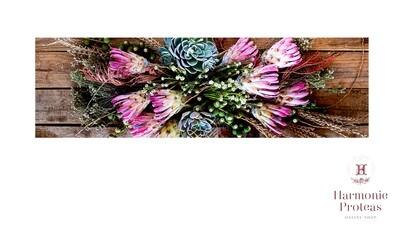 Table runner - Protea veld blomme
