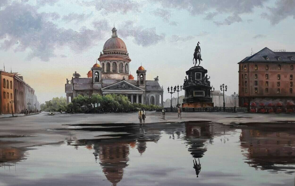 St. Petersburg RUSSIA Oil on canvas Original Made to Order.