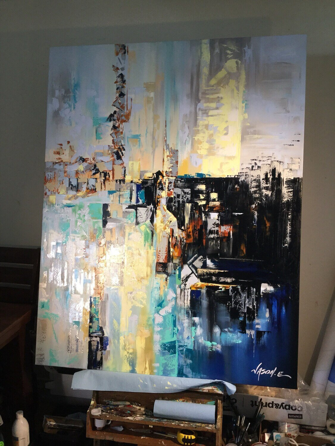 Abstract ART LOVELY Large Format Painting PERFECT For large wall spaces and high ceilings. Made to order. Payment plans available.