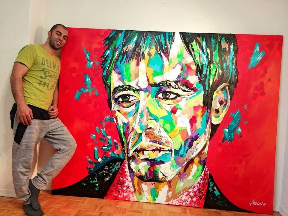 SCARFACE Abstro Realism Gorgeous Oil Painting on Canvas