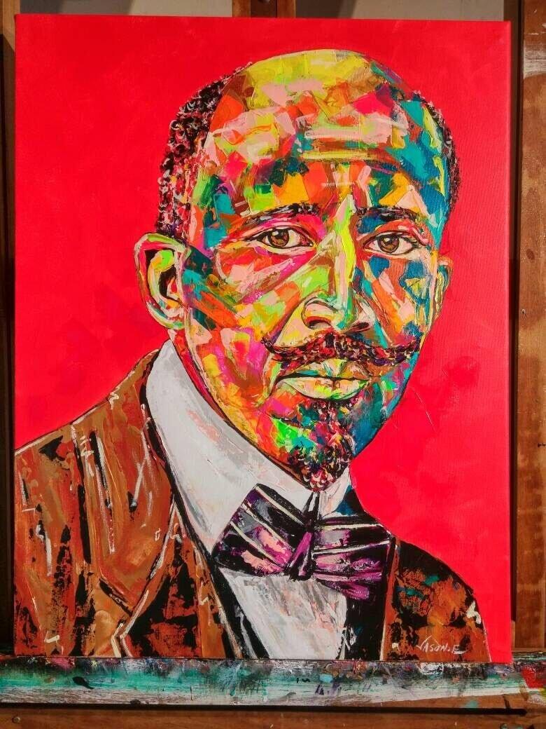 W.E.B DuBois Spontaneous Realism Oil Painting William Edward Burghardt Du Bois