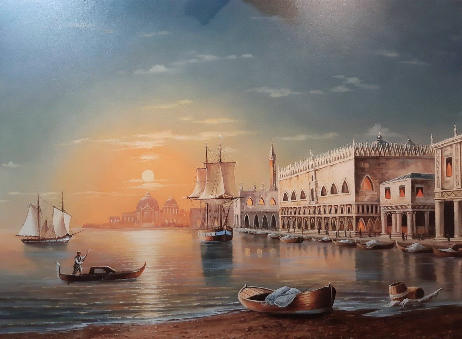 THE CALM Oil Painting on Canvas Made to Order. All sizes available
