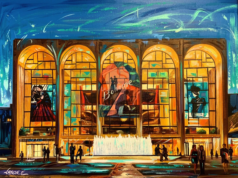 Metropolitan Opera House New York Spontaneous Realism Oil Painting on Canvas