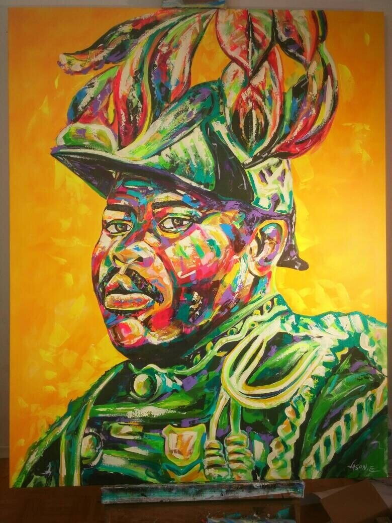 Jamaican Politician Marcus Garvey Original Oil Painting Made to Order.