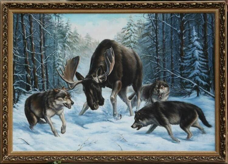 The Hunt Oil Painting Original