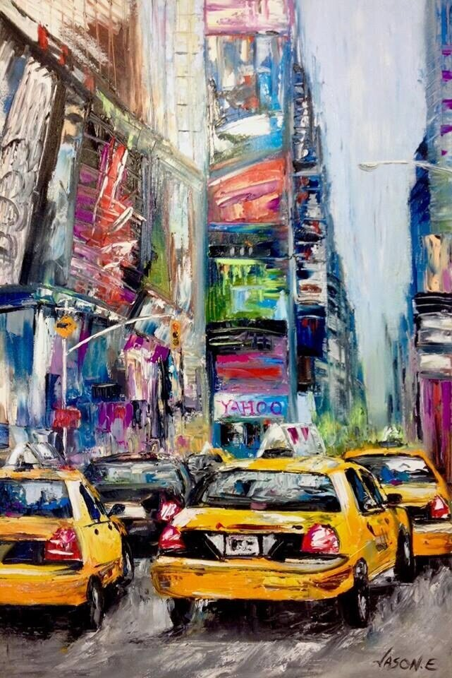 NEW YORK Times Square Oil Painting on Canvas