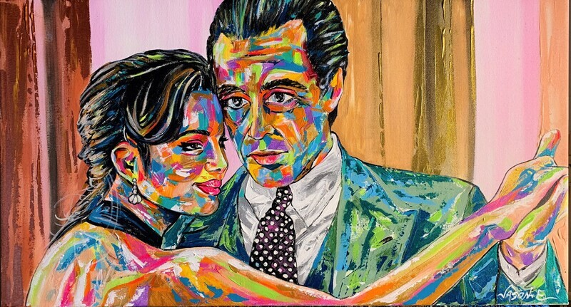 Al Pacino Scent of a Woman Spontaneous Realism Oil Painting made to order