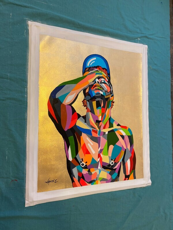 Gay Nude Male Homoerotic Oil Painting AN ORIGINAL LGBT Wall Art Nude Boy Nude Man Nude Art Homosexual Gay Bear Shape Art
