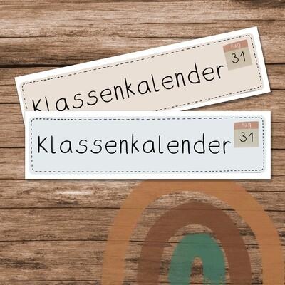 Klassenkalender Boho Regenbogen - Schilder