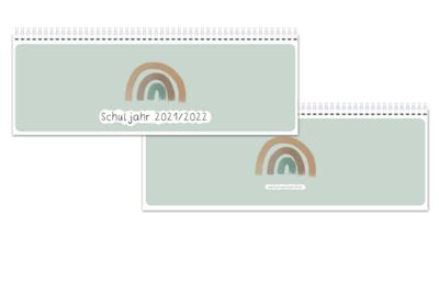 Tischplaner Regenbogen-Boho-Stil - Schuljahr 2021/2022 - ab sofort lieferbereit
