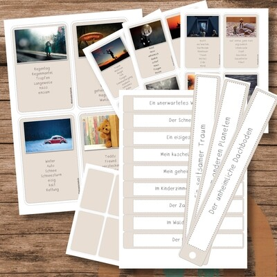 Karten Schreibanlässe -  Geschichten schreiben