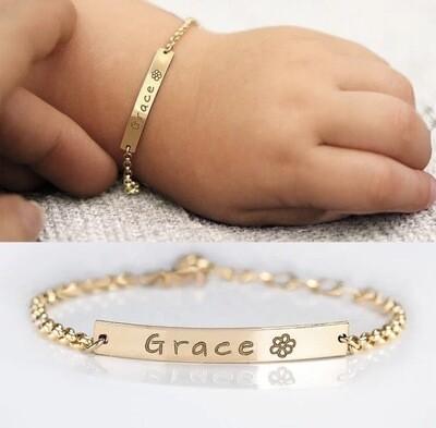 Custom Engraved Baby Bracelet