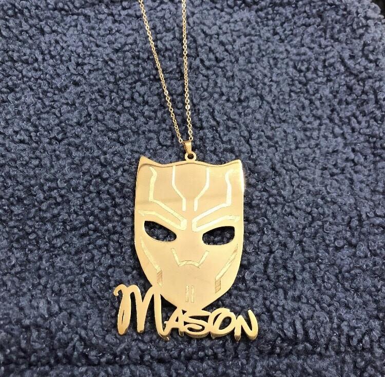 Custom Cartoon Name Necklaces