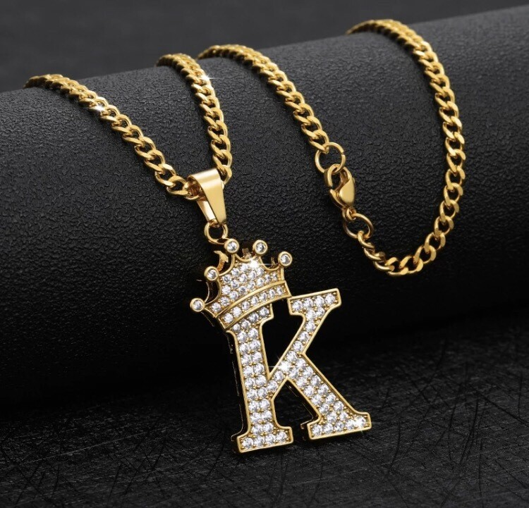 Crown Me Initial Necklace