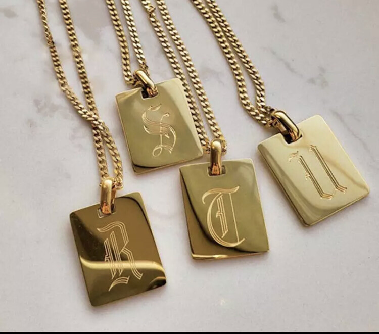 Gold Mine Initial Necklace