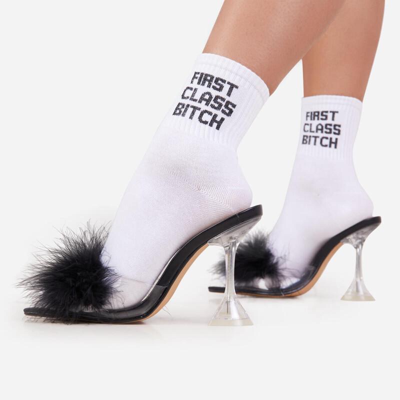 First Class Slogan Socks