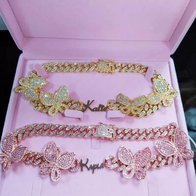 Custom Cuban Butterfly Necklace 🦋