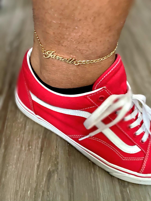 Custom Nameplate anklet