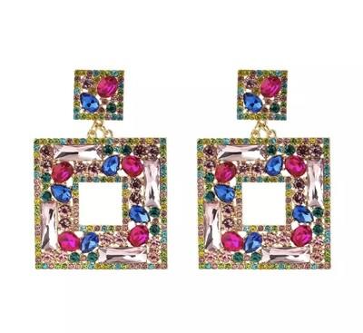 Rhinestone Drip Earrings