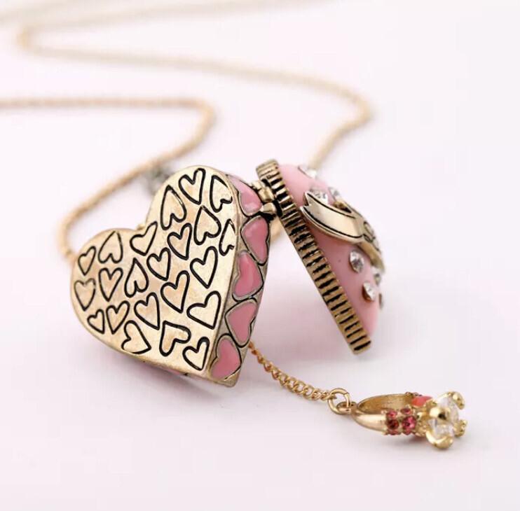 Pink Love Locket Set