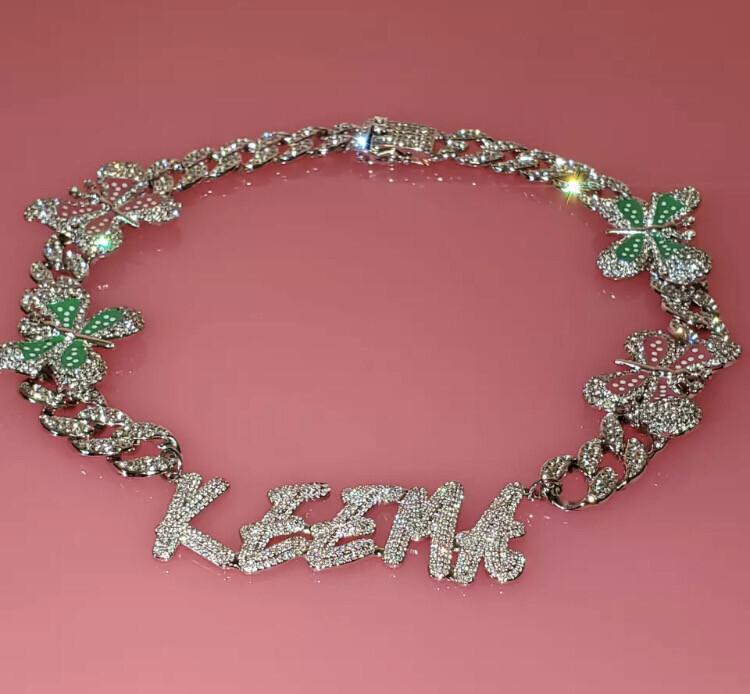 Custom Junky Bling Butterfly Necklace