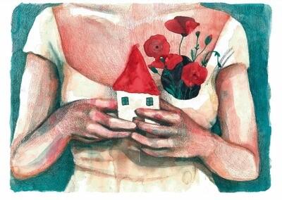 Print. MI CASA - mujeres-