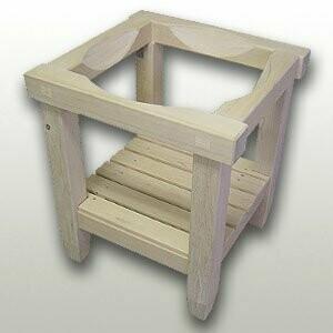 Square lumber kneading bowl cradle