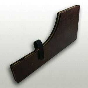 Wooden knife shaving lacquer finish for 300 mm