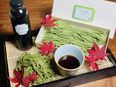 Matcha Soba Noodles(280g) with Gluten-free sauce (180g)
