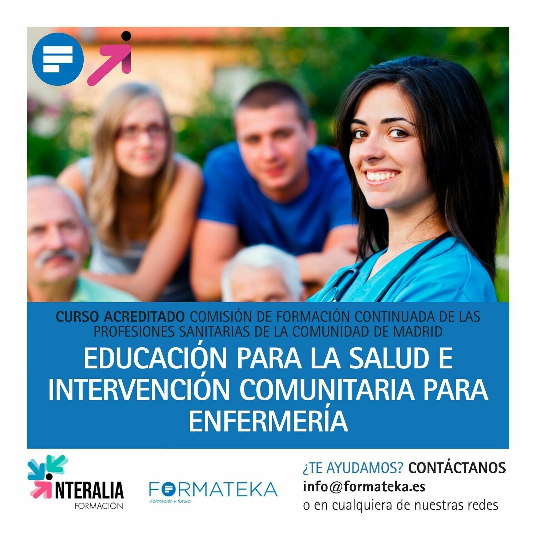 Educación para la salud e intervención comunitaria para enfermería - 45 Horas - 5,5 Créditos CFC