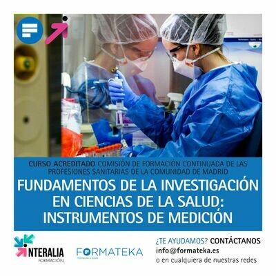 Fundamentos de la investigación en ciencias de la salud: Instrumentos de medición - 40 Horas - 5,3 Créditos CFC