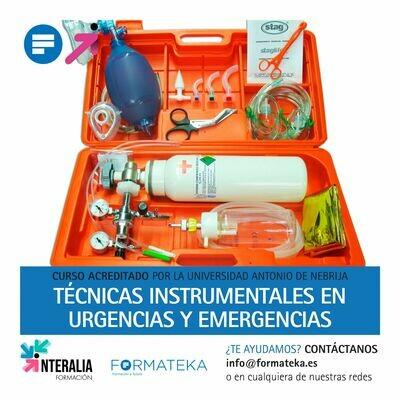 Técnicas instrumentales en urgencias y emergencias - 100 Horas - 4 Créditos CFC