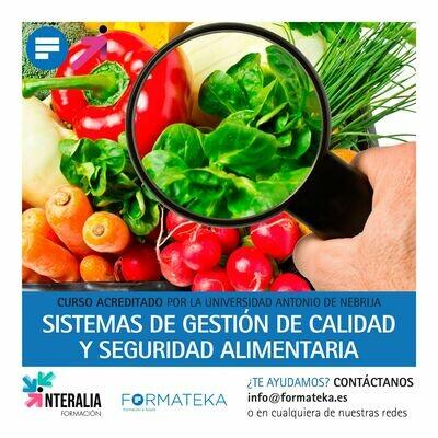 Sistemas de gestión de calidad y seguridad alimentaria - 100 Horas - 4 Créditos CFC