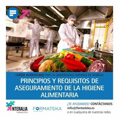 Principios y requisitos de aseguramiento de la higiene alimentaria - 125 Horas - 5 Créditos CFC