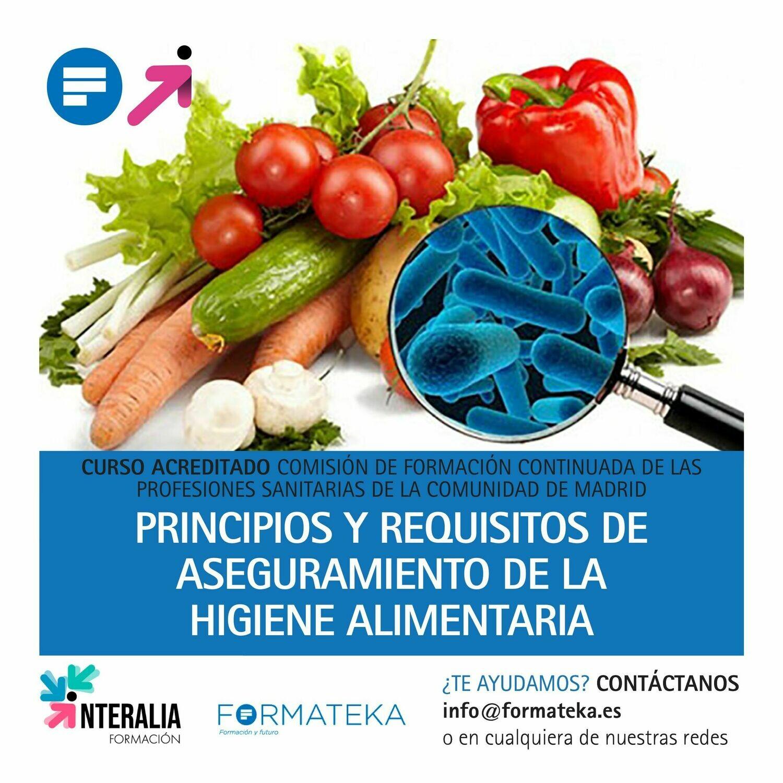 Principios y requisitos de aseguramiento de la higiene alimentaria - 30 Horas - 4,2 Créditos CFC