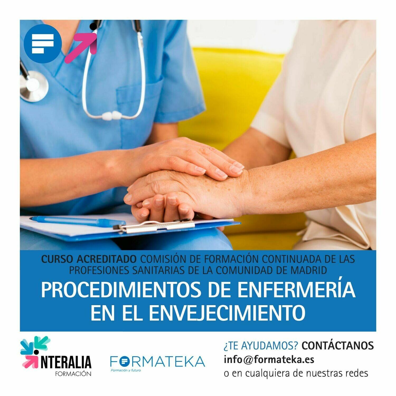 Procedimientos de enfermería en el envejecimiento - 44 Horas - 5,3 Créditos CFC
