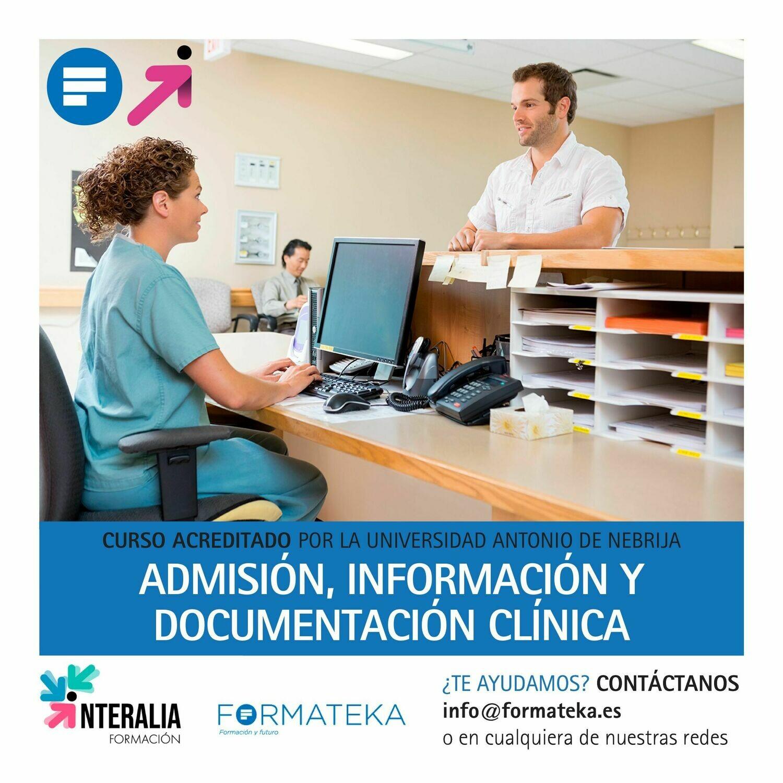 Admisión, información y documentación clínica - 175 Horas - 7 Créditos CFC